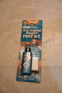 Teal pumpkin paint is available at local grocery stores, including Wegmans in Rochester. Provided by Joy Auch
